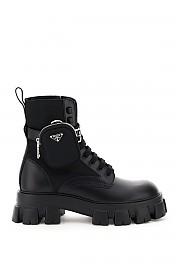 [관부가세포함][프라다] (2UE007 3L09 F0002) FW20 남성  monolith boots with파우치