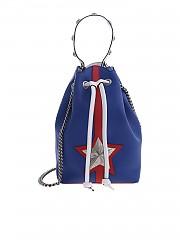 [관부가세포함][les jeunes toiles] Bucket bag in blue leather with shoulder strap (V07-SM03-T01N)