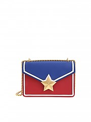 [관부가세포함][les jeunes toiles] Vega Trim bag in red and blue (V06-SM03-T01G)