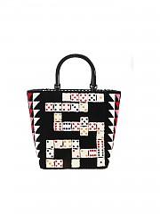 [관부가세포함][루루기네스] FW19 여성 토트백 Domino Bibi handbag in black (50157655 BLACK/MULTI)