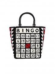 [관부가세포함][루루기네스] FW19 여성 토트백 Bibi Bingo hand bag in black and white (50157631 BLACK/MULTI)