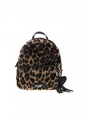 [관부가세포함][마이트윈트윈셋] FW19 여성 Animal print 백팩 in black and brown (192MA7032 04065)