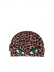[관부가세포함][루루기네스] FW19 여성 클러치 Clutch Wild Cat in animal print (50158195 TAN/BLACK)