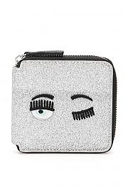 [관부가세포함][키아라 페라그니] (CFWA001 SILV) FW20 여성  flirting glitter ziparound 지갑
