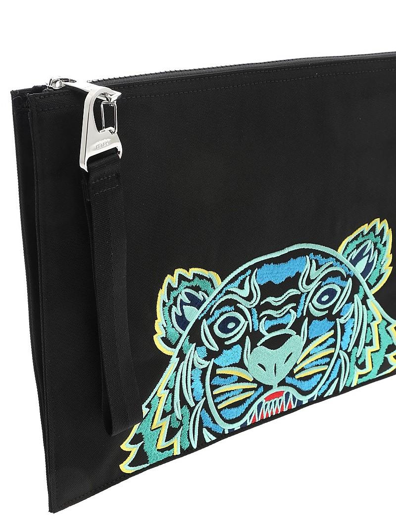 [관부가세포함][겐조] SS20 남성 클러치 Tiger document holder in black (5PM322 F20 99D)