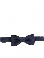 [관부가세포함][알테아] Blue bow tie with tone-on-tone embroidery (1821257 02)