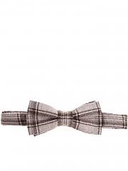 [관부가세포함][알테아] Brown bow tie with checked pattern (1825439 03)