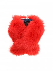 [관부가세포함][이브살로몬] Orange fur neck warmer (8WAA019XXRDXX RIO A4024)