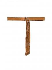 """[관부가세포함][이로] """"Tyler"""" leather belt with fringes (AK380 WP50TYLER BEI01 BEIGE)"""