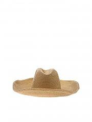 [관부가세포함][블루걸] Hat in golden lamé with wide brim (44214 175)