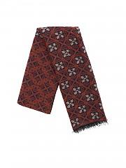 [관부가세포함][루비암1911] FW19 남성 스카프 in brown with floral embroidery (6578 99550/2)