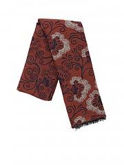 [관부가세포함][루비암1911] FW19 여성 스카프 in brown with blue embroidery (6578 99551/2)