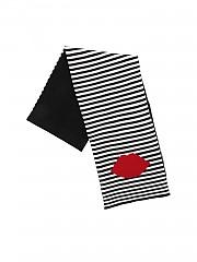 [관부가세포함][루루기네스] FW19 여성 머플러 Lip Stripe scarf in black and white (50162192 BLK/CHALK)