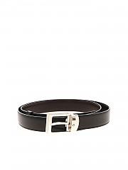 [관부가세포함][몽블랑] 남성 Metal buckle 벨트 in black and brown (107664)