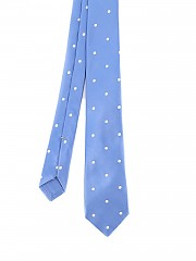 [관부가세포함][키톤] polka dot patterned silk tie (2G6701)