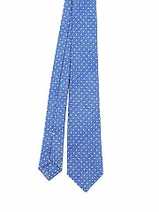[관부가세포함][키톤] polka dot patterned silk twill tie (3G3402)