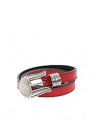 [관부가세포함][KATE CATE] Thin Kim belt (BLT019N RED)