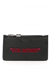 """[관부가세포함][오프화이트] (OWNC013S20LEA002 1032) SS20 여성 off- cardholder파우치 """"for money"""""""