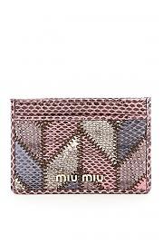 [관부가세포함][미우미우] (5MC208 2DVE F0405) FW20 여성  patchwork ayers 카드 홀더