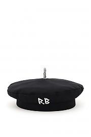 [관부가세포함][RUSLAN BAGINSKIY] (BRT033 C DMD BLACK) FW20 여성  cotton beret crystal