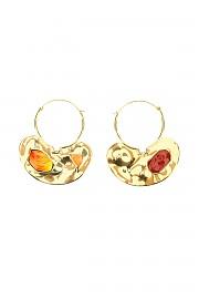 [관부가세포함][파투] (JW0121002297G 297G) FW20 여성  iconic small hoop귀걸이with stones
