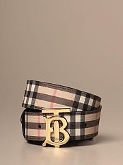 [관부가세포함][버버리] (80189900 A7026)  Winter 20 여성  e-canvas belt with vintage check motif and monogram beige