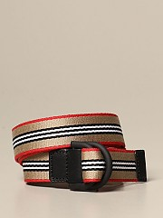 [관부가세포함][버버리] (8031828 A7026)  Winter 20 여성  belt with vintage striped ribbon beige