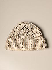 [관부가세포함][에르마노 설비노] (D375R311CT NWG 51218)  Winter 20 여성  hat in pure wool with jewel rhinestones beige