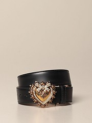 [관부가세포함][돌체앤가바나] (BE1315 AK861 80999)  Winter 20 여성 dolce &amp gabbana belt in calfskin with heart buckle