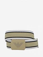 [관부가세포함][아르마니] (401312 OP544 00113)  Summer 20 여성 striped emporio  belt beige