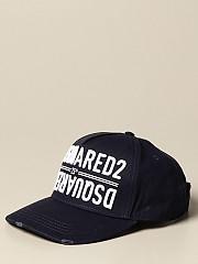 [관부가세포함][디스퀘어드2] (BCM0340 05C00001 3073)  Winter 20 여성  야구 모자 with embroide logo navy