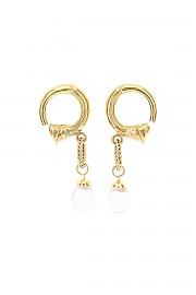 [관부가세포함][파투] (JW0101002297G 297G) FW20 여성  small pearl hoop 귀걸이