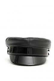 [관부가세포함][RUSLAN BAGINSKIY] (KPCLB01 L BLACK) FW20 여성  baker boy leather hat