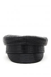 [관부가세포함][RUSLAN BAGINSKIY] (KPCLB01 KRK L BLACK) FW20 여성  baker boy leather hat