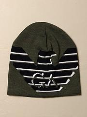 [관부가세포함][아르마니] (404611 0A464 00084)  Winter 20 여성 emporio  wool hat with big logo military