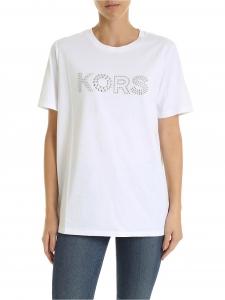 [마이클코어스] FW19 White 여성 티셔츠 XS (MU95M9697J WHITE_C)_빠른배송
